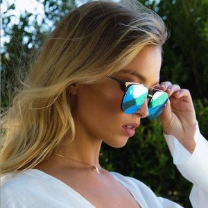 QUAY AUSTRALIA | Private Eyes Sunglasses, Blue